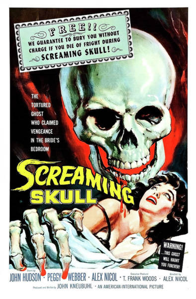 Scream Painting - Screaming Skull, Horror Movie Poster by Long Shot