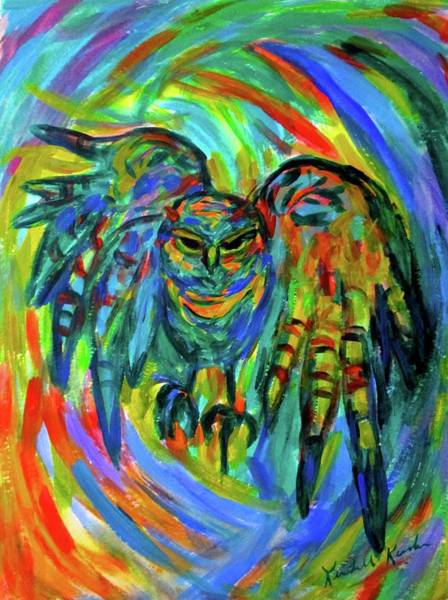 Painting - Screech  by Kendall Kessler