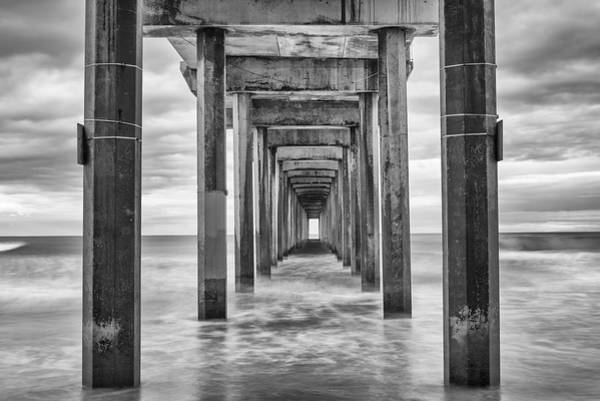 Scripps Pier Photograph - Scripps In Monochrome by Joseph S Giacalone