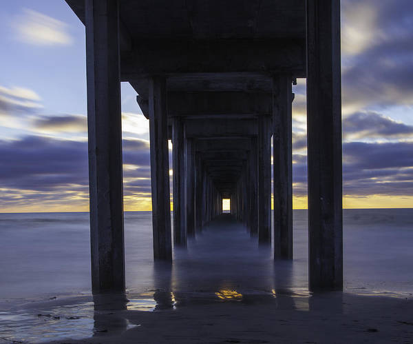 Scripps Pier Photograph - Scripps Pier-before Sunset by Forest Alan Lee
