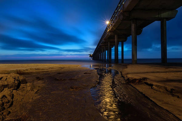 Wall Art - Photograph - Scripps Pier Blue Hour by Larry Marshall