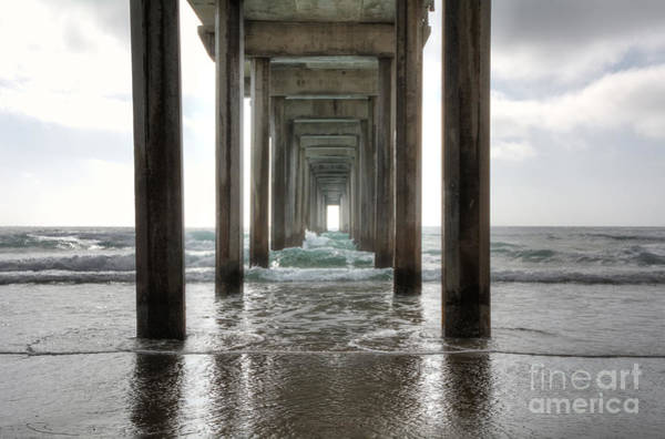 Columns Photograph - Scripps Pier by Eddie Yerkish