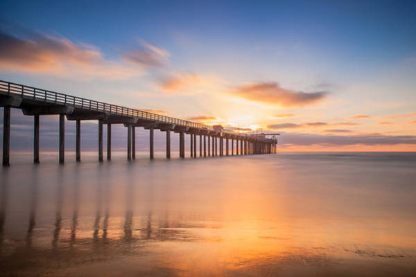 Scripps Pier Photograph - Scripps Pier by James Rosales