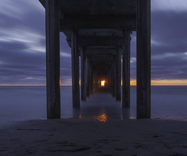 Scripps Pier Photograph - Scripps Pier-long Exposure Sunset by Forest Alan Lee
