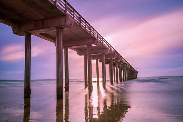 Scripps Pier Photograph - Scripps Pier Sunset by Michael Gaunt