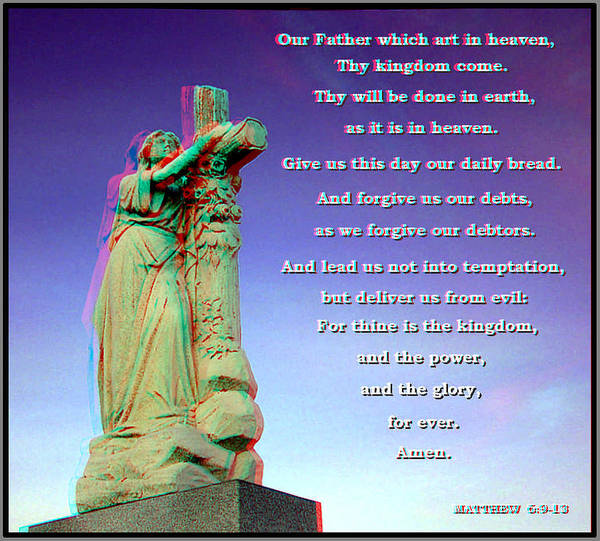Anaglyph Photograph - Scripture - Use Red-cyan 3d Glasses by Brian Wallace
