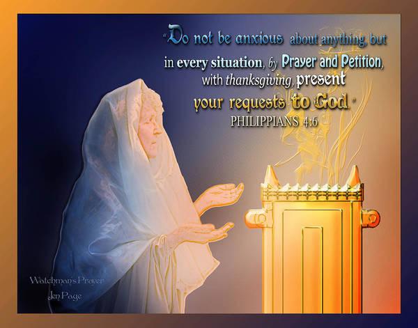 Scripture Art   Watchman's Prayer Art Print