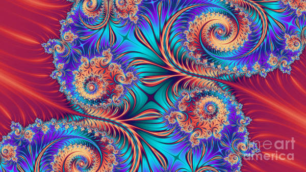 Spiral Digital Art - Scrolls And Whirls by John Edwards