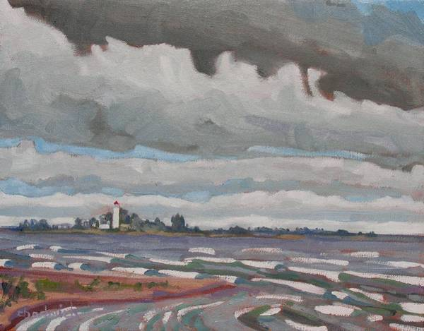Lake Huron Painting - Scubbys Chantry by Phil Chadwick