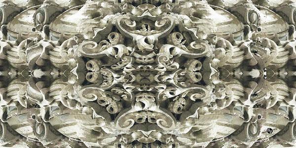 Mixed Media - Sculpted Flower Frieze by Tony Rubino