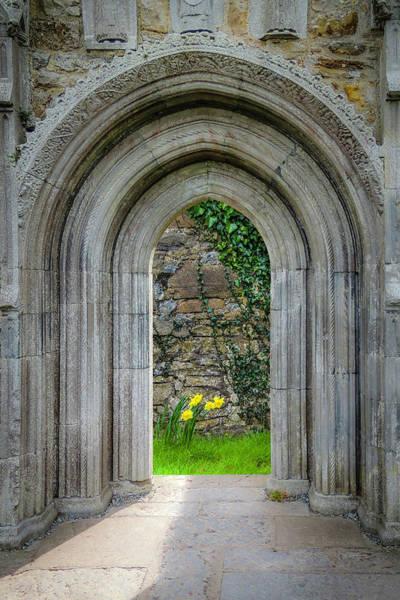 Photograph - Sculpted Portal To Irish Spring Garden by James Truett