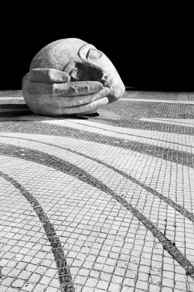 Photograph - Sculpture At St Eustache  Paris by Pierre Leclerc Photography