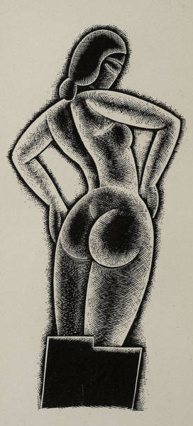 Booty Drawing - Sculpture by Eric Gill