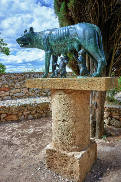 Photograph - Sculpture Of The Capitoline Wolf With Romulus And Remus by Fine Art Photography Prints By Eduardo Accorinti