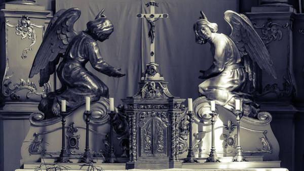Photograph - Sculpture On Altar by Jacek Wojnarowski