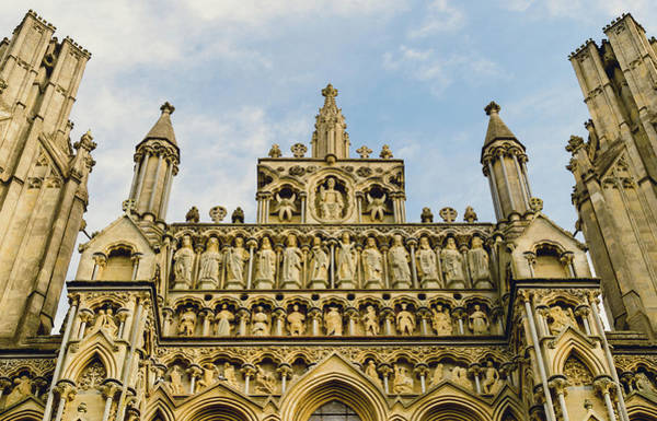 Photograph - Sculpture On Facade Of Wells Cathedral by Jacek Wojnarowski