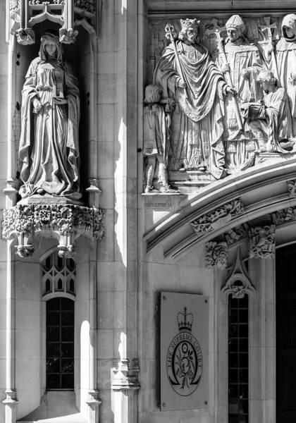 Photograph - Sculpture On Supreme Court Of The United Kingdom F by Jacek Wojnarowski