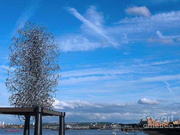 Sculpture, Skyline And Docs Art Print