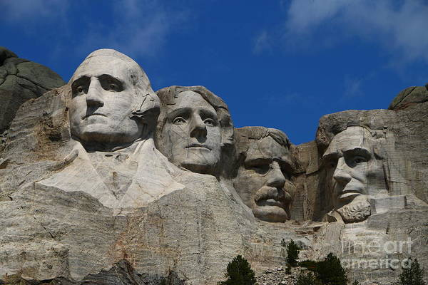 Wall Art - Photograph - Sculptures Of Former U.s. Presidents  by Christiane Schulze Art And Photography