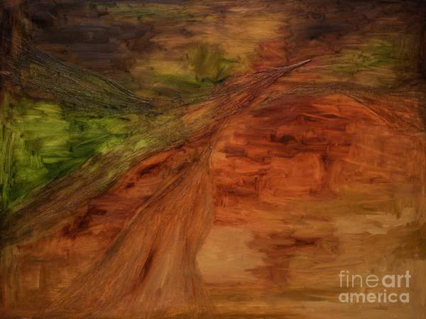 Burnt Sienna Wall Art - Painting - Scumble Abstract Small by Jodi Monahan