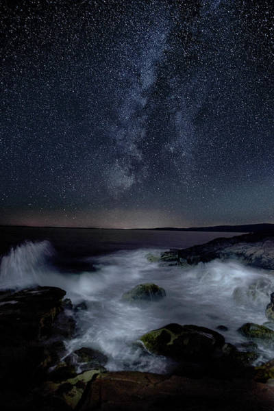 Wall Art - Photograph - Sea And Starscape At Schoodic Point by Marty Saccone