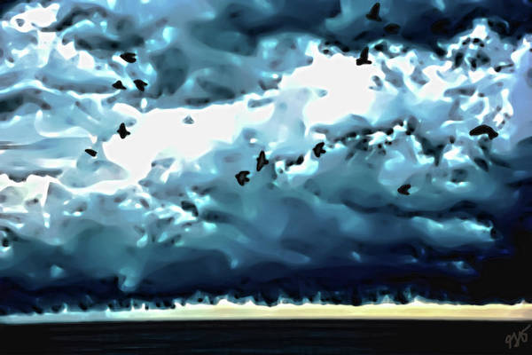 Photograph - Sea Birds And Storm Clouds by Gina O'Brien