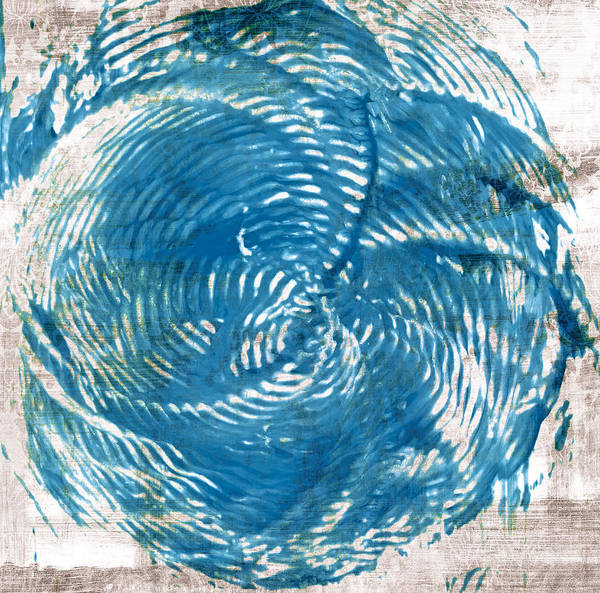 Wall Art - Painting - Sea Blue Abstract by Frank Tschakert