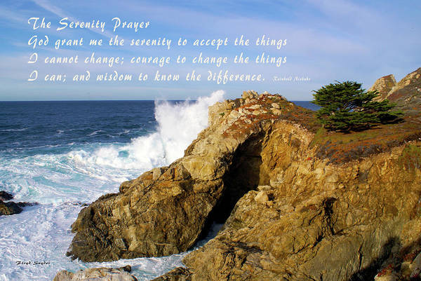 Photograph - Sea Cave Big Sur The Serenity Prayer by Floyd Snyder