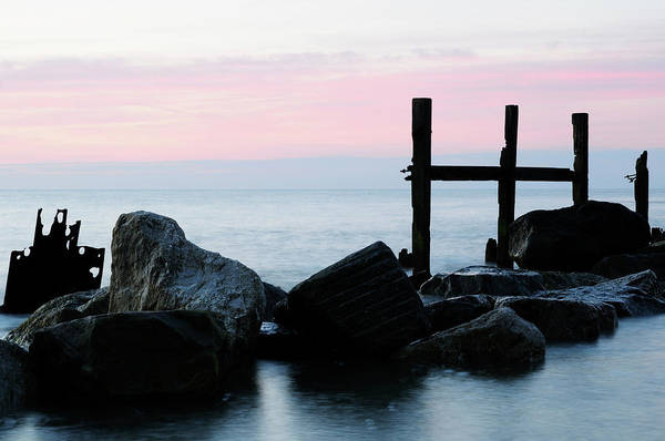 Wall Art - Photograph - Sea Defences At Happisburgh  by Liz Pinchen