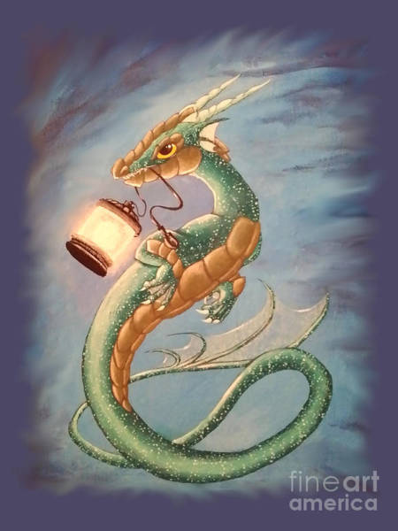 Painting - Sea Dragon And Lantern by Mary Hoy