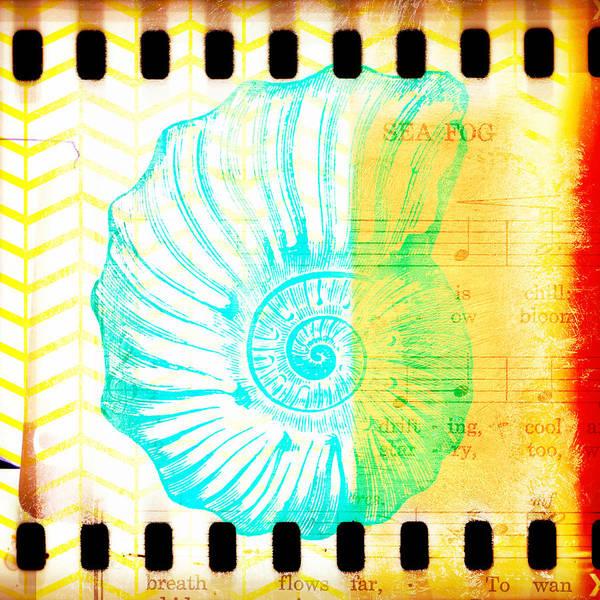 Tropical Digital Art - Sea Fog Nautilus by Brandi Fitzgerald