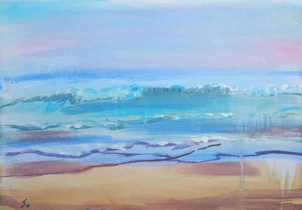 Painting - Sea Fret At Fistral Beach by Mike Jory
