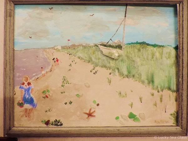 Painting - Sea Glass Hunting by Jean Forman