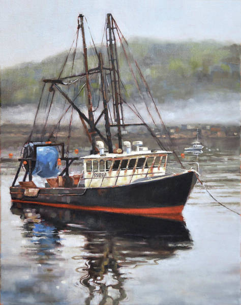 Fishing Boat Painting - Sea Hag by Todd Baxter