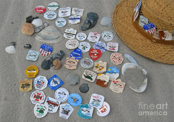 Tag Photograph - Sea Isle City Beach Tags by Nancy Patterson