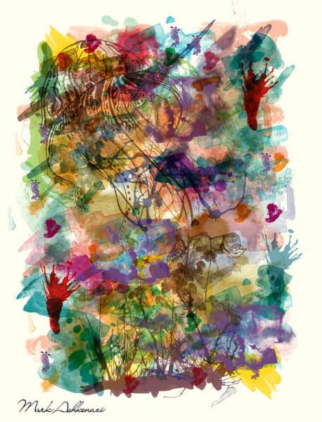 Wall Art - Digital Art - Sea Life Abstract  by Mark Ashkenazi