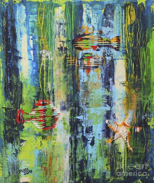 Wall Art - Painting - Sea Life by Jutta Maria Pusl