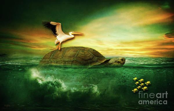 Pelican Mixed Media - Sea Life by KaFra Art
