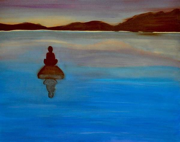Wall Art - Painting - Sea Meditation by Aviva Moshkovich