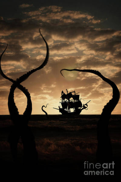 Photograph - Sea Monster And Pirates by Clayton Bastiani