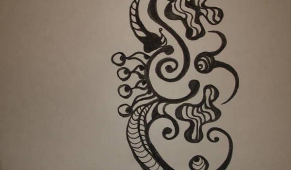 Oahu Drawing - Sea Monster by Erika Swartzkopf
