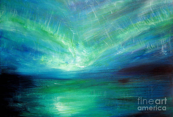 Wall Art - Painting - Sea Of Aurora by Michael Grubb