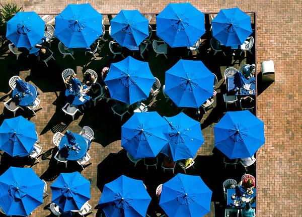 Photograph - Sea Of Blue Umbrellas by E Faithe Lester
