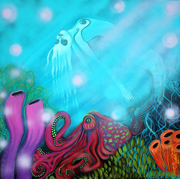Wall Art - Painting - Sea Of Dreams by Laura Barbosa