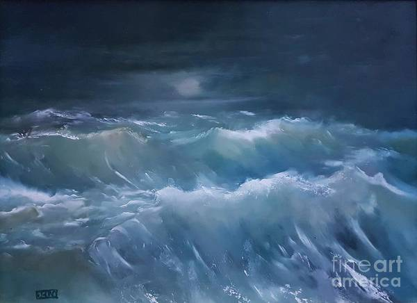 Wall Art - Painting - Sea Of Emerald by Julie Bond