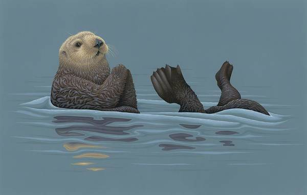 Wall Art - Painting - Sea Otter by Nathan Marcy