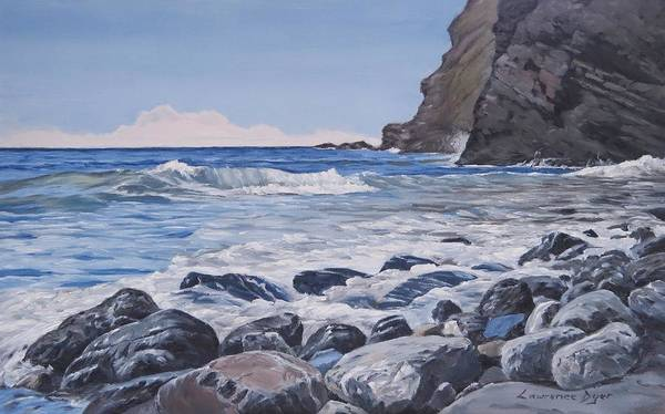 Painting - Sea Pounded Stones At Crackington Haven by Lawrence Dyer