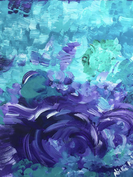 Sea Purple Art Print