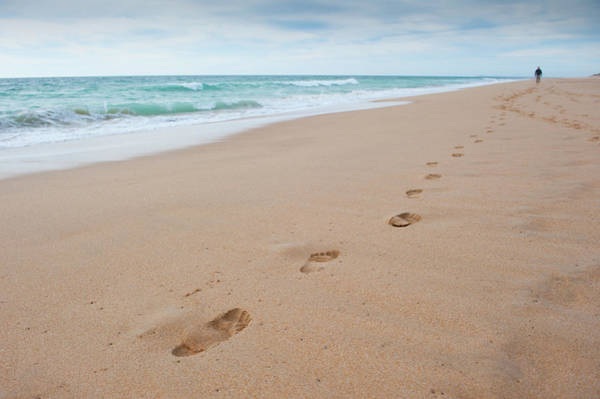 Photograph - Sea, Sand And Footprints II by Helen Northcott