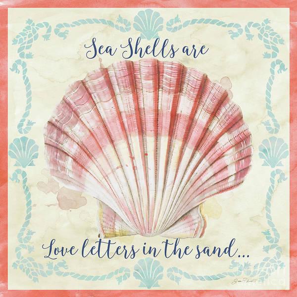 Coastal Digital Art - Sea Shells-a by Jean Plout
